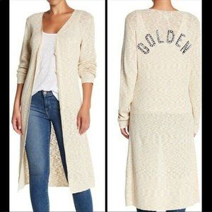 New WILDFOX Pearl Golden Osprey Duster Cardigan